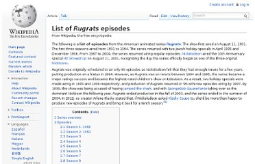 http://en.wikipedia.org/wiki/List_of_Rugrats_episodes