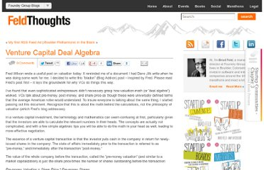 http://www.feld.com/wp/archives/2004/07/venture-capital-deal-algebra.html