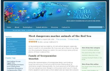 http://www.diverdaily.com/most-dangerous-marine-animals-of-red-sea/