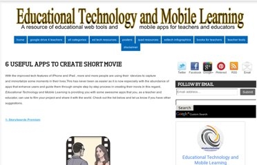 http://www.educatorstechnology.com/2012/12/6-useful-apps-to-create-short-movie.html