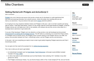 http://www.mikechambers.com/blog/2010/07/26/getting-started-with-phidgets-and-actionscript/