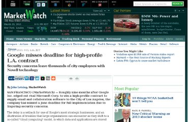 http://www.marketwatch.com/story/google-misses-deadline-in-high-profile-la-deal-2010-07-23