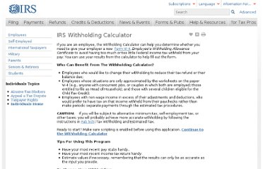 http://www.irs.gov/Individuals/IRS-Withholding-Calculator