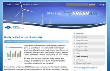 http://www.ewea.org/blog/2011/06/clarity-on-the-true-cost-of-electricity/