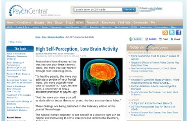 http://psychcentral.com/news/2010/01/07/high-self-perception-low-brain-activity/10606.html