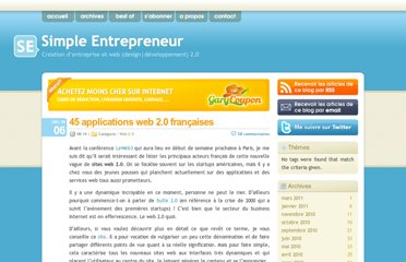 http://www.simpleentrepreneur.com/2006/12/06/45-applications-web-20-francaises/