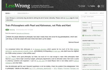 http://lesswrong.com/lw/frp/train_philosophers_with_pearl_and_kahneman_not/#more
