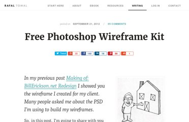 http://rafaltomal.com/free-photoshop-wireframe-kit/