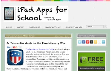 http://ipadapps4school.com/2012/12/16/an-interactive-guide-to-the-revolutionary-war/