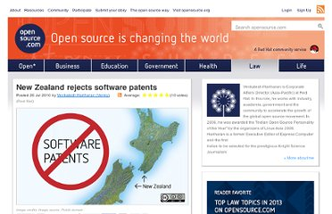http://opensource.com/law/10/7/new-zealand-rejects-software-patents