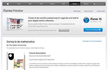 https://itunes.apple.com/us/course/daring-to-do-mathematics/id537184795