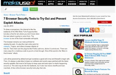 http://www.makeuseof.com/tag/7-browser-security-tests-prevent-exploit-attacks/