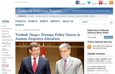 http://www.americanprogress.org/issues/security/news/2010/11/22/8678/turkish-tango-foreign-policy-dance-in-ankara-requires-attention/