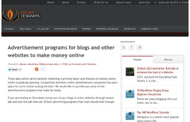 http://www.webanddesigners.com/advertisement-programs-for-blogs-and-other-websites-to-make-money-online/