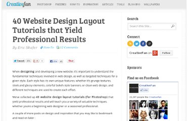http://creativefan.com/40-website-design-layout-tutorials-that-yield-professional-results/