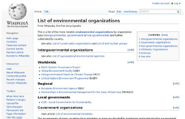 http://en.wikipedia.org/wiki/List_of_environmental_organizations