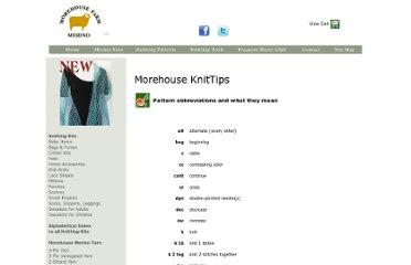 http://www.morehousefarm.com/Knitting/Tips/Abbreviations/