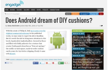 http://www.engadget.com/2010/03/09/does-android-dream-of-diy-cushions/