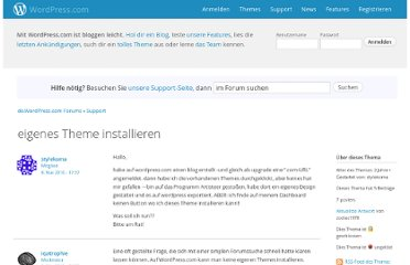 http://de.forums.wordpress.com/topic/eigenes-theme-installieren