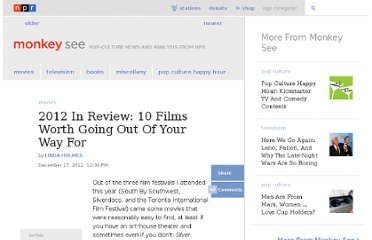 http://www.npr.org/blogs/monkeysee/2012/12/17/167449798/2012-in-review-ten-films-worth-going-out-of-your-way-for
