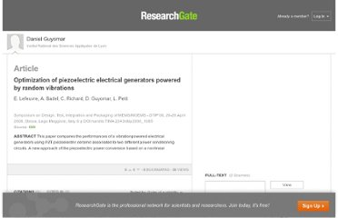 http://www.researchgate.net/publication/27602637_Optimization_of_piezoelectric_electrical_generators_powered_by_random_vibrations