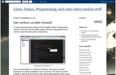 http://scummos.blogspot.com/2012/11/kdev-python-14-stable-released.html