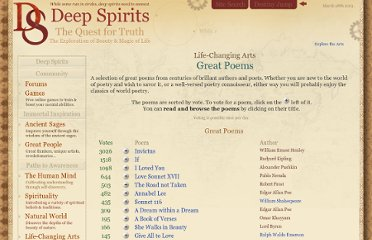 http://www.deepspirits.com/life-changing-arts/books/great-poems.php