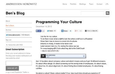 http://bhorowitz.com/2012/12/18/programming-your-culture/