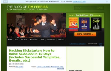 http://www.fourhourworkweek.com/blog/2012/12/18/hacking-kickstarter-how-to-raise-100000-in-10-days-includes-successful-templates-e-mails-etc/