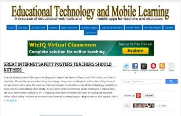 http://www.educatorstechnology.com/2012/12/great-internet-safety-posters-teachers.html