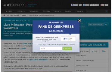 http://www.geekpress.fr/wordpress/livre/memento-wordpress-1514/