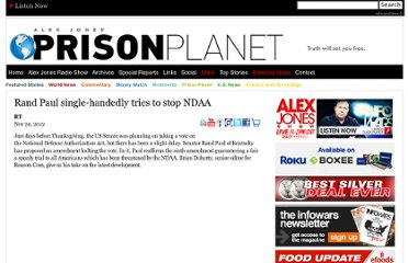 http://www.prisonplanet.com/rand-paul-single-handedly-tries-to-stop-ndaa.html