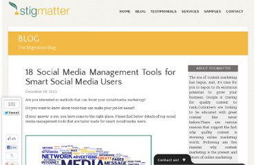 http://www.stigmatter.com/18-social-media-management-tools-for-smart-social-media-users/