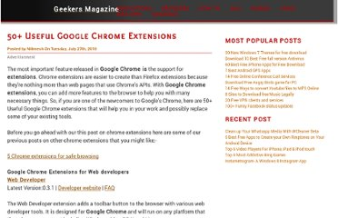 http://www.geekersmagazine.com/50-useful-google-chrome-extensions.html