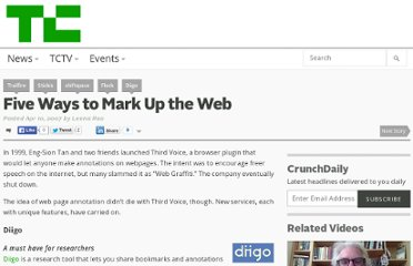 http://techcrunch.com/2007/04/10/5-ways-to-mark-up-the-web/