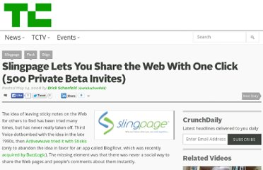 http://techcrunch.com/2008/05/14/slingpage-lets-you-share-the-web-with-one-click-500-private-beta-invites/