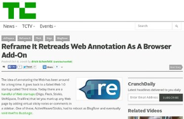 http://techcrunch.com/2008/10/08/reframe-it-retreads-web-annotation-as-a-browser-add-on/