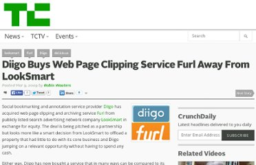 http://techcrunch.com/2009/03/09/diigo-buys-web-page-clipping-service-furl-away-from-looksmart/