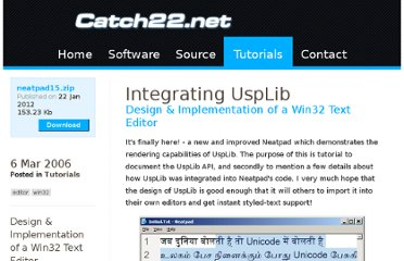 http://www.catch22.net/tuts/integrating-usplib