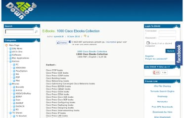 http://www.dl4all.com/e_books/317172-1000-cisco-ebooks-collection.html