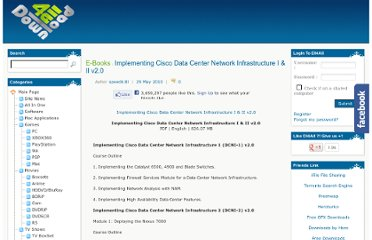http://www.dl4all.com/e_books/294888-implementing-cisco-data-center-network-infrastructure-i-ii-v20.html