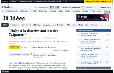 http://www.lemonde.fr/idees/article/2010/07/28/halte-a-la-discrimination-des-tziganes_1392881_3232.html