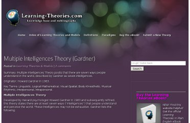 http://www.learning-theories.com/gardners-multiple-intelligences-theory.html