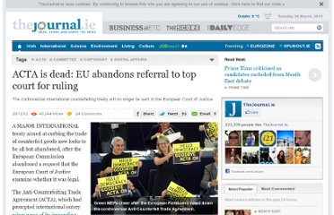 http://www.thejournal.ie/european-commission-abandons-acta-724119-Dec2012/