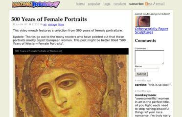 http://www.amazingincredible.com/show/64-500-years-of-female-portraits