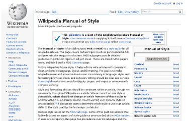 http://en.wikipedia.org/wiki/Wikipedia:Manual_of_Style