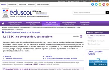 http://eduscol.education.fr/cid46871/comite-education-sante-citoyennete.html