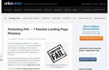 http://unbounce.com/landing-pages/marketing-fail-7-newbie-landing-page-mistakes/