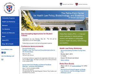 http://www.law.harvard.edu/programs/petrie-flom/index.html