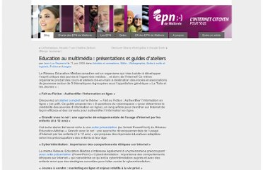 http://www.epn-ressources.be/education-au-multimedia-presentations-et-guides-d-ateliers